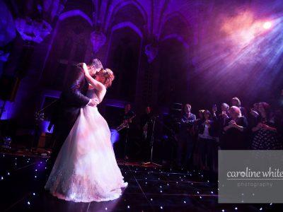 Black LED Peckforton Castle wedding Cheshire