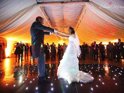 Black Starlit LED Dance Floor Hire Cheshire