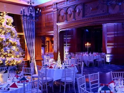 Blue wash lighting for Weddings and Events at Inglewood Manor