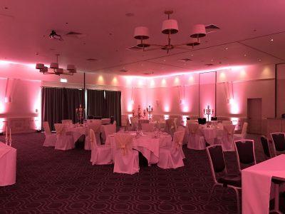 Cheshire Uplighting Hire Pink Uplighters