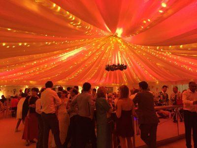marquee lighting wedding Cheshire