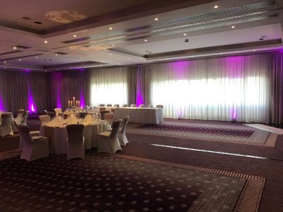 Wedding lighting hire at Chester Grosvenor