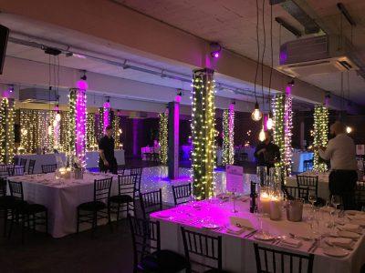 Fairy lights wedding cheshire
