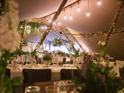 Festoon lighting wedding Cheshire