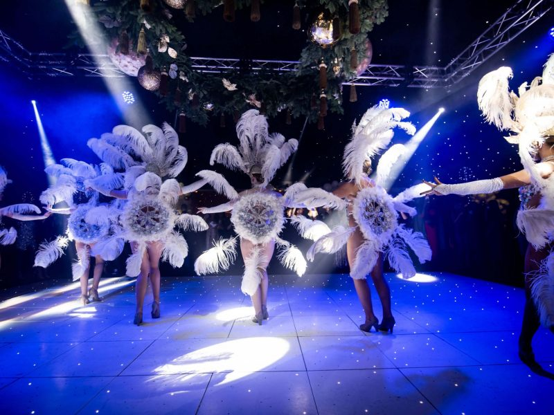 White LED Dance Floor Hire Cheshire North West