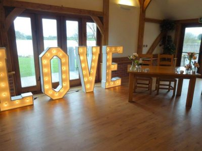 LOVE letters Hire Cheshire