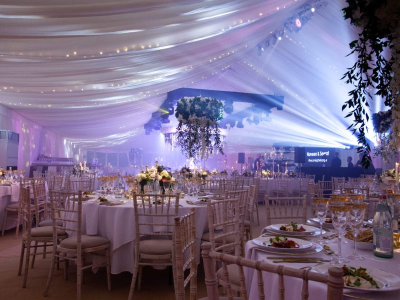 Marquee lighting wedding Cheshire