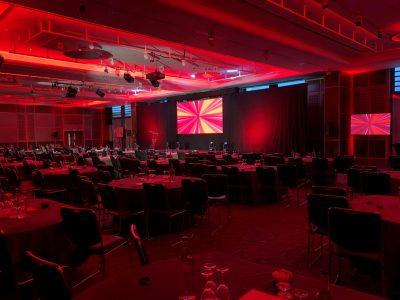 Vodafone conference lighting