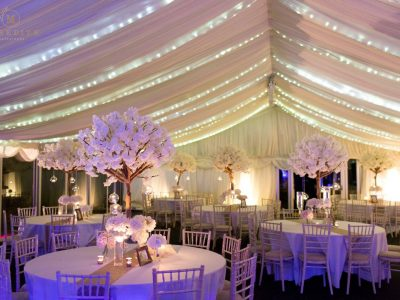 wedding marquee fairy lighting cheshire