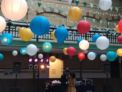 Paper lanterns wedding cheshire