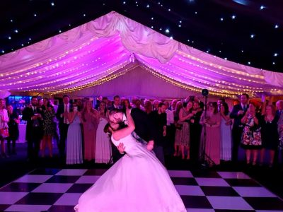 Nunsmere Hall - marquee fairy lighting Cheshire