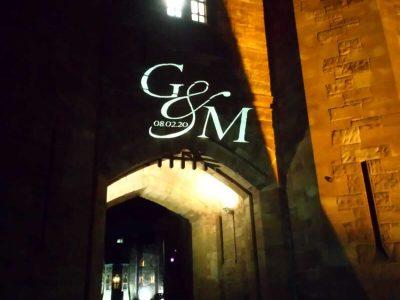 Ourdoor Gobo Hire Peckforton Castle Cheshire
