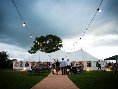 outdoor lighting wedding Cheshire
