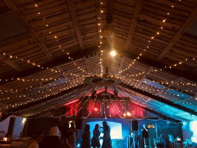 Fairy lighting wedding cheshire