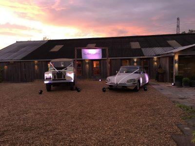 Wedding venue lighting Owen House wedding Barn Cheshire