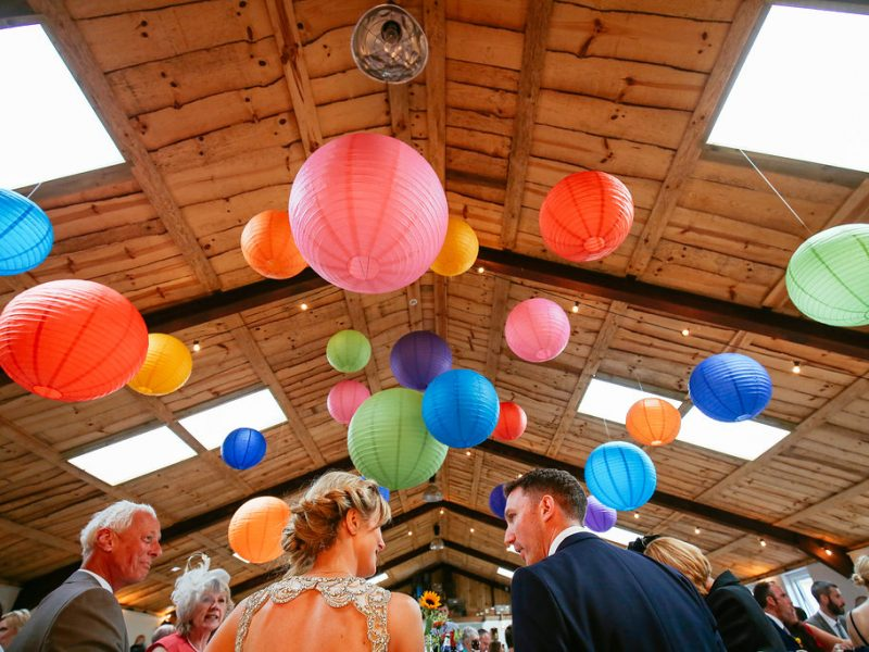Paper lanterns Cheshire wedding