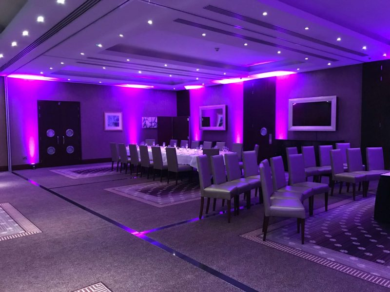 Purple Lighting Hire Cheshire