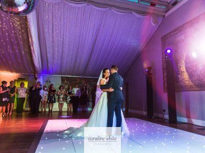 White LED Dance floor hire in Cheshire Wrenbury Hall