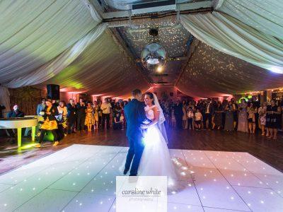 White LED Dance Floor Hire at Wrenbury Hall Cheshire