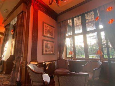 Red Uplighting Hire at Inglewood Manor (1)