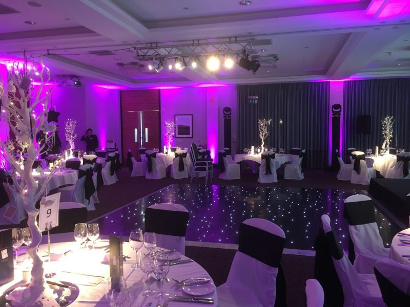 Wedding venue lighting Rookery Hall Cheshire