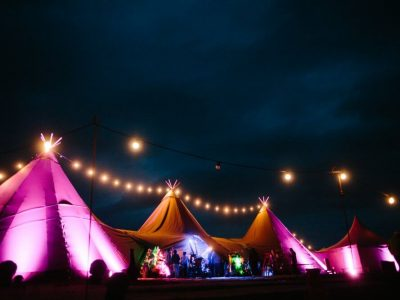 Tipi Wedding Lighting