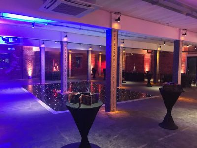 Black LED Dance Floor Hire Manchester