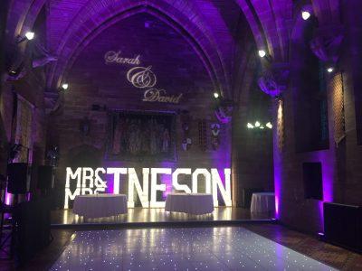 White LED Dance Floor, Cheshire Manchester