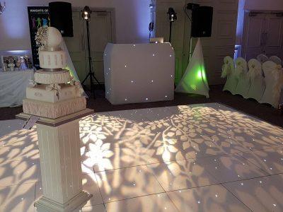 Wedding lighting Cheshire Mottram Hall