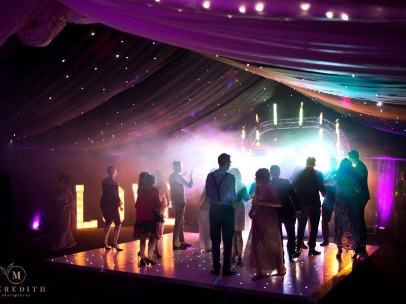 Wedding venue lighting Nunsmere Hall Cheshire
