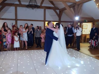 White LED Dance floor Hire Cheshire