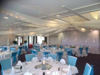 White Star cloth backdrop - Wychwood Park - Cheshire Lighting Hire