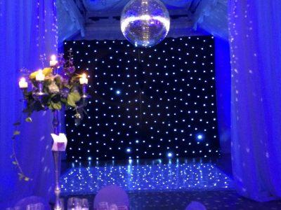 Mirror ball Wrenbury Hall wedding Cheshire