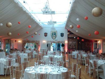 Paper lanterns Cheshire wedding