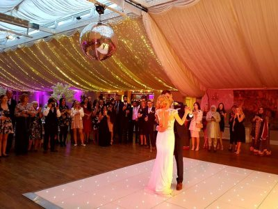 White LED Dance Floor Hire Cheshire Wrenbury Dance Floor Hire