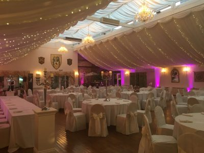 Wedding lighting hire Cheshire Pink Wedding lighting