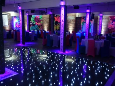 Black LED dancefloor hire Cheshire, Manchester